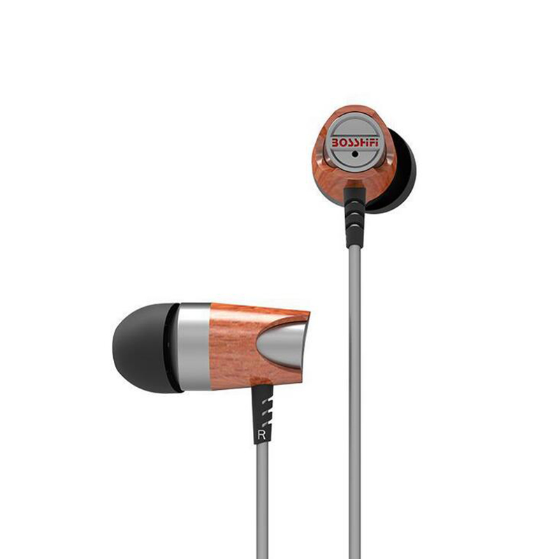 ФОТО Dynamic and Armature Blon B3s 2 unit Wood Earbuds HIFI Red Moving Iron&Coil  In Ear Earphone DJ monitor Wooden Headset