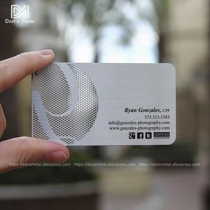 Image 4 - התאמה אישית קעור קמור מגזרת איכות נירוסטה עסקים מתכת כרטיס מתכת כרטיס ביקור מתכת כרטיס חבר desig