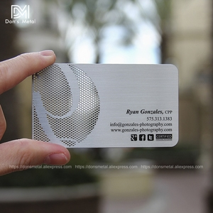 Image 4 - Personalizing concave convex cutout  quality stainless steel business metal card Metal business card metal membership card desig