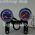 IZTOSS motorcycle LED Motorcycle Tachometer+Odometer Speedometer Gauge 2 in 1 speedometer gauge witch  red LED light