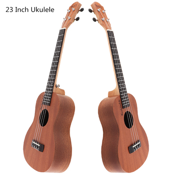 Professional 23 Inch Concert Ukulele Sapele Wood 18 Fret Hawaii Four Strings Guitar Ukelele Musical Instrument