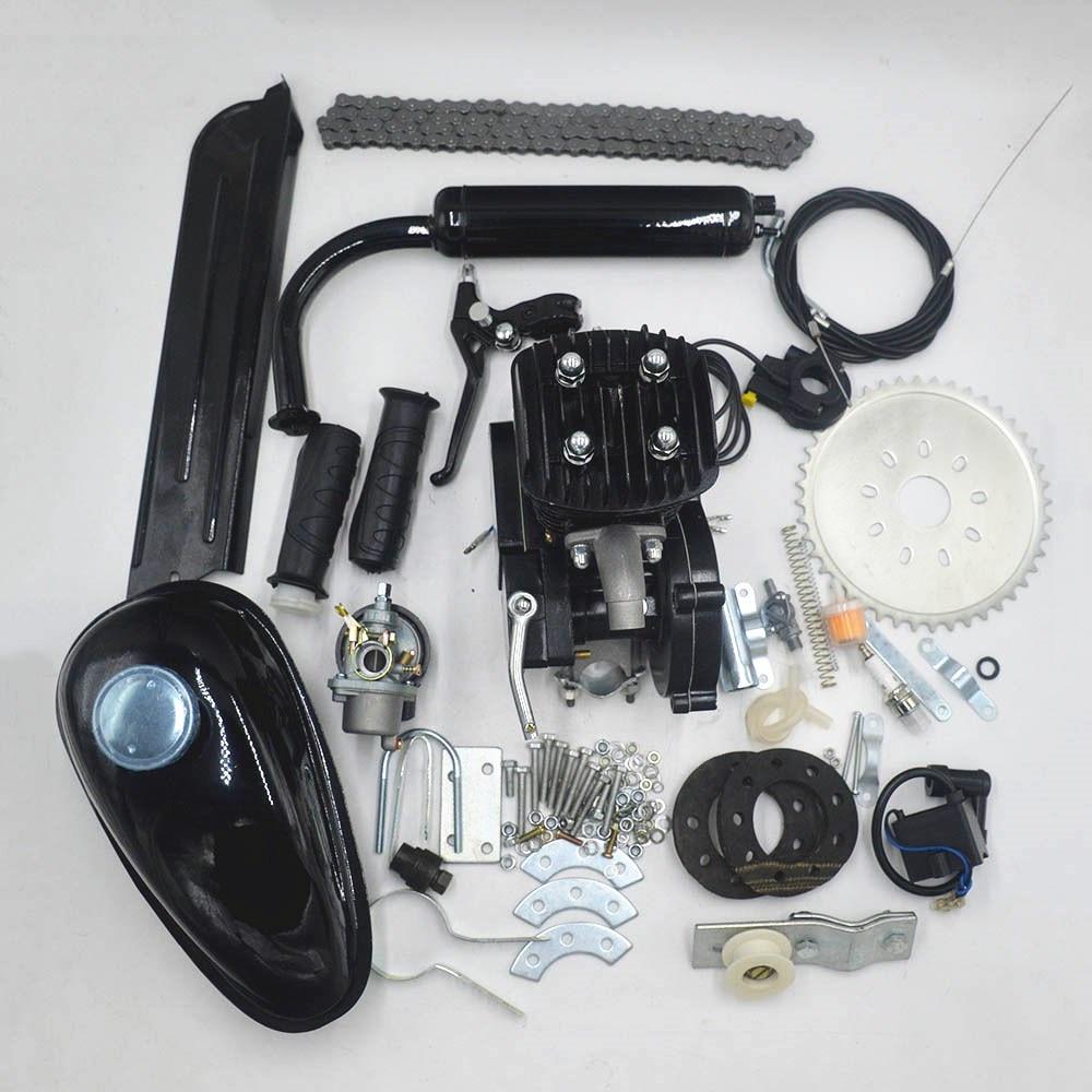 80cc 2 Stroke Motor Engine Kit for DIY Motorized Bicycle Push Bike Complete Petrol Cycle Motor set motorcycle kit