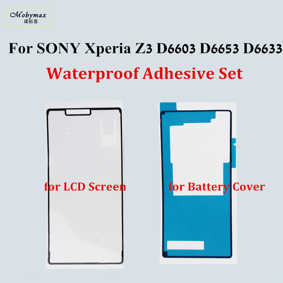 Housing Frame Waterproof Adhesive For SONY Xperia Z3 D6603 D6653 D6633 Front LCD Sticker Back Cover Adhesive Full Set Tape Glue