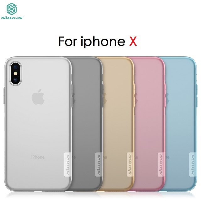 new style 905fa f59a0 US $4.99  For iPhone Xs Case For Apple iPhone X / Xs Cover NILLKIN Nature  Transparent TPU Clear Case Silicon Soft Back Cover Case-in Fitted Cases  from ...