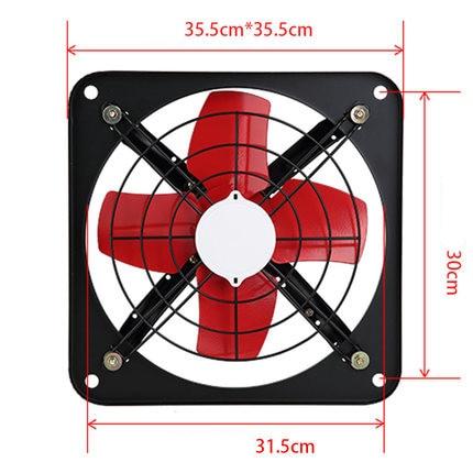 Window exhaust fan kitchen range hood exhaust fan ventilation strong fan