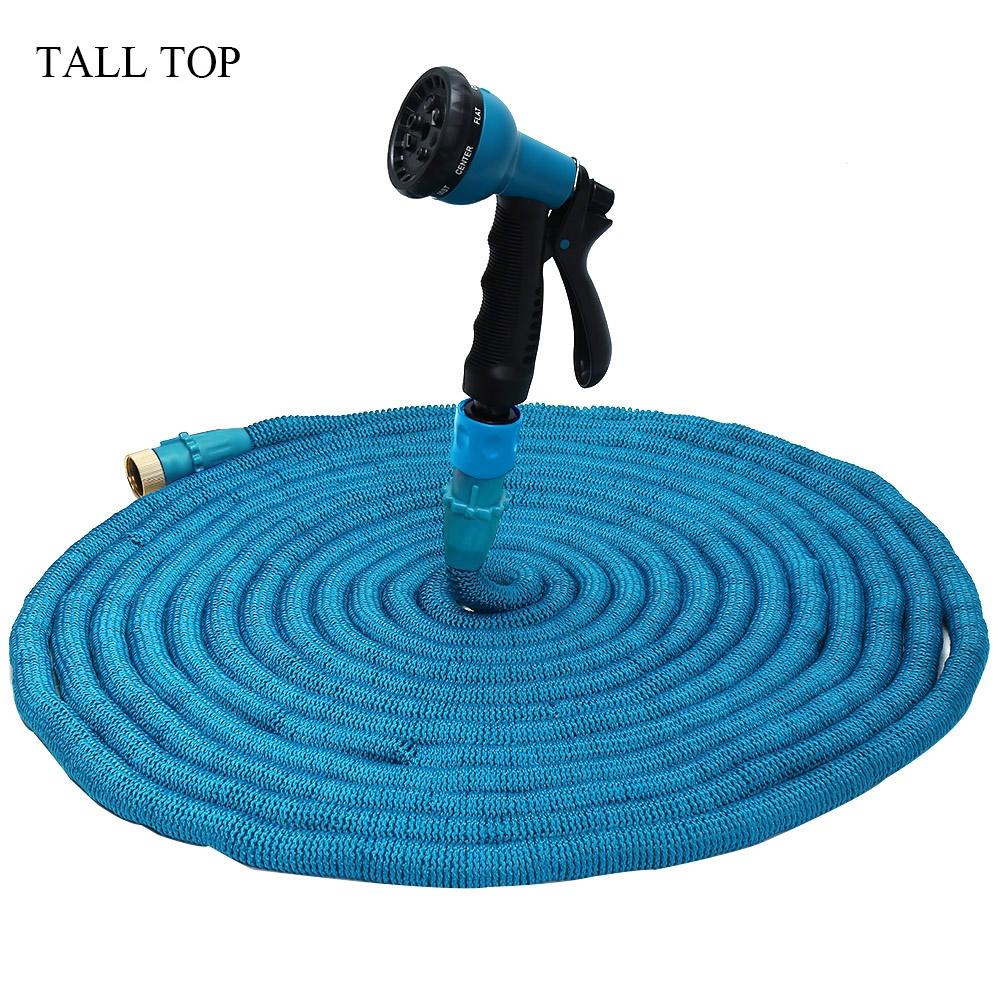 Hot 3 colors 25 100ft expandable magic flexible garden water hose for car hose pipe plastic Expandable garden hose 100 ft