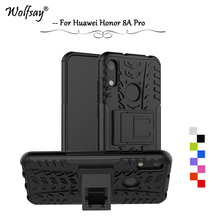 Huawei Honor 8A Pro Case Shockproof Armor Rubber Silicone Hard PC Phone Case Huawei Honor 8A Pro Back Cover Honor 8A Pro Fundas for huawei honor 8a pro case flip wallet business leather coque phone case for honor 8a pro jat l41 cover fundas accessories