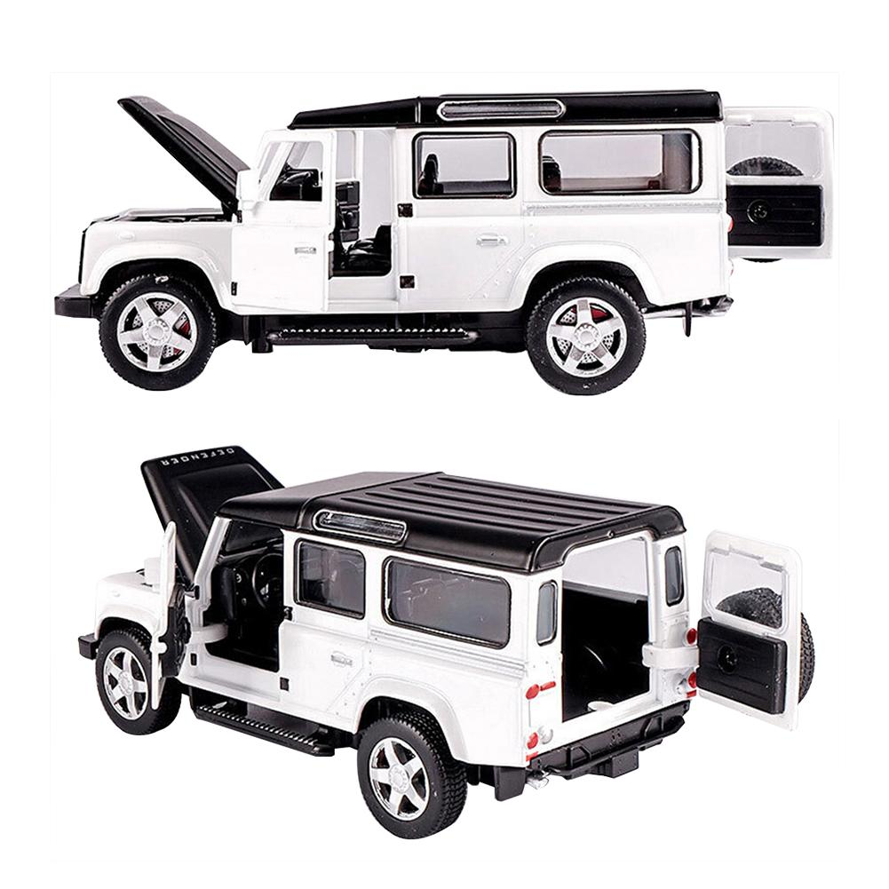 1/32 Land Rover Defender Alloy Model Car Acousto-optic Pull-back Car Toy 1 32 alloy pull back toy car model musical