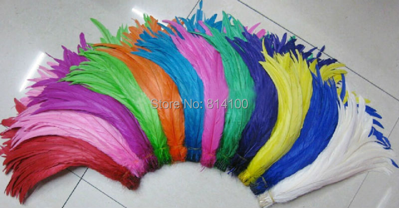 Wholesales Colored 14 16inches 35 40cm Rooster Tail Feathers For Costume Mask 12Colours Available 500pcs lots