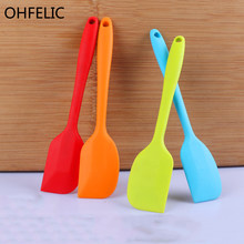 Hot Food grade Non Stick butter cooking silicone spatula set cookie pastry scraper cake baking spatula silicone spatula Tool(China)