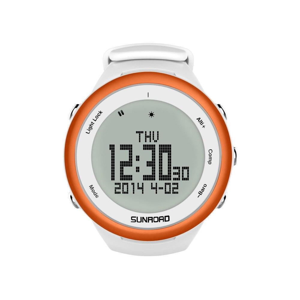 SUNROAD FR852A Climbing Watch  Pedometer Barometer Altimeter Compass Backlight Waterproof Digital Smart Sports Watch (Orange)