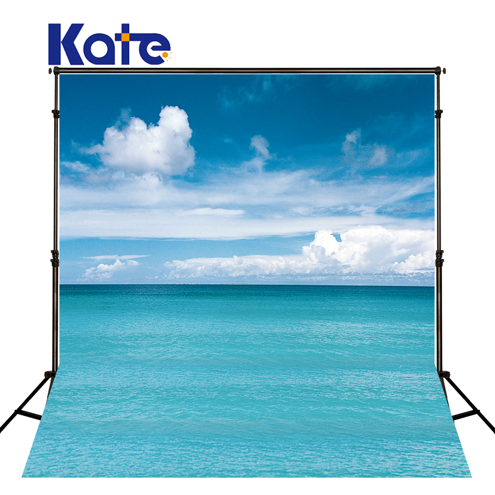 KATE  Photo Backdrop Blue Sea Backdrop White Cloud Background  Photography Scenic Backdrops Nature Backdrops For Studio newborn photography background blue sky white clouds photo backdrop vinyl balloons scattered petals backgrounds for photo studio