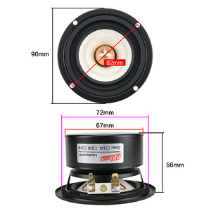 Image 4 - GHXAMP 3 Inch 90MM Full Range Bullet Reverse Edge 4OHM 15W Speaker Home Ceiling Car 80Hz 20KHz