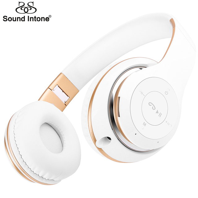 Sound Intone BT-09S Wireless Bluetooth Headphones Stereo Headset With Mic Popular Auricular Support TF Card FM Radio for phones