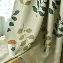 Tree Leaves Printed Curtains
