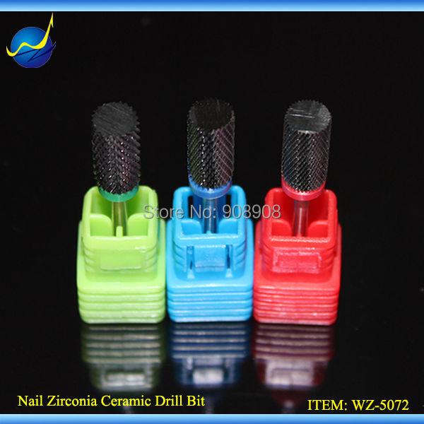 Gratis verzending zwarte keramische nagelbeitels professionele nail art-bestandstool voor elektrische manicure pedicure salon machine cutter boor