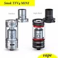 Smok tfv4 mini tfv4 kit completo rba rta atomizador/vaporizador/tanque clearomizer cigarro eletrônico