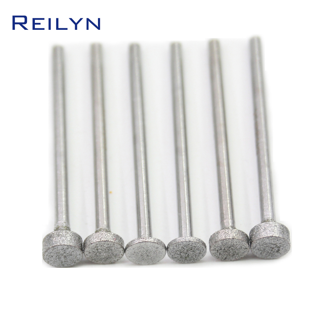 6 PCS Super Good Flat End Cylinder Bit Grit 150#boron Carbide Diamond Grinding Burr Teeth Grinding Bits Polishing Bits