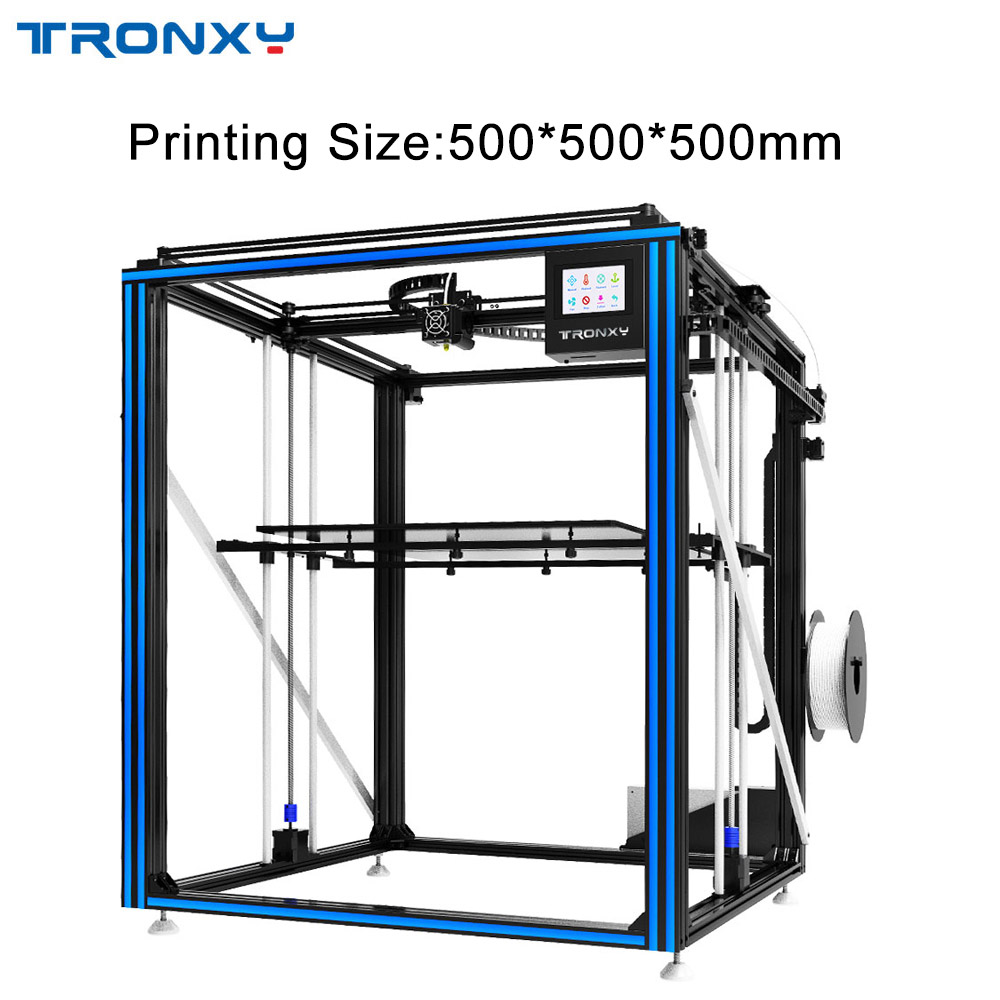 2019 TRONXY 3D impresora de gran tamaño de impresión 500*500mm X5SA-500 X5ST-500 de alta precisión de velocidad rápida máquina de bricolaje Kits de pantalla táctil