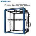 2019 TRONXY imprimante 3D grande taille d'impression 500*500mm X5SA 500 X5ST 500 haute précision rapide vitesse bricolage Machine Kits écran tactile