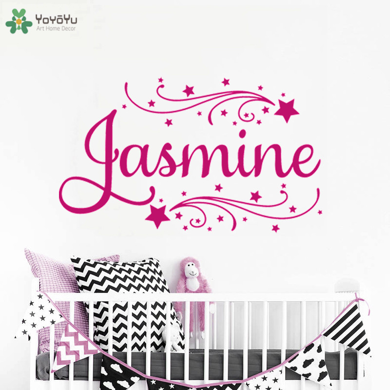 Girls Room Personalized Name Wall Decal Kids Nursery Room Vinyl Wall Stickers For Kids Rooms Girls Name Custom Art Decor DIYSY42