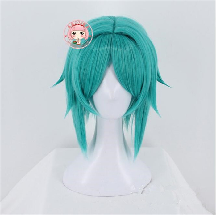 Phosphophyllite Cosplay Headwear Synthetic Hair Land of the Lustrous Anime Cosplay Headwear Green wig A579