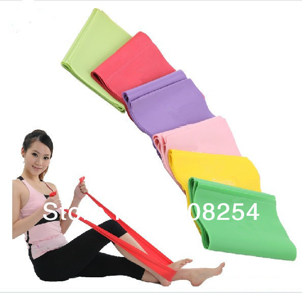 Fitness Resistance BAND Elastic Stretch Band Yoga Pilates Exercise - Fitness and Bodybuilding