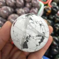 55 60MM Natural white turquoise stone balls howlite stone spheres for decoration