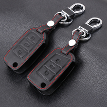 Genuine Leather Car Remote Key Cover Case For Skoda Octavia 1 2 3 A5 A7 Kodiaq Karoq 2017 Rapid Fabia Superb Yeti Accessories