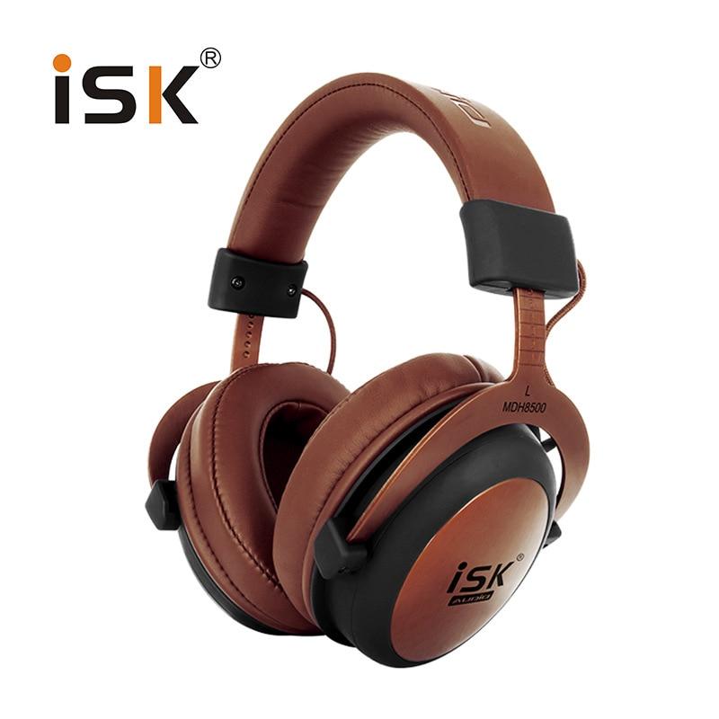 Genuine ISK MDH8500 Headphone HIFI Stereo Fully Enclosed Dynamic Earphone Professional Studio Monitor Headphones Hifi DJ Headset
