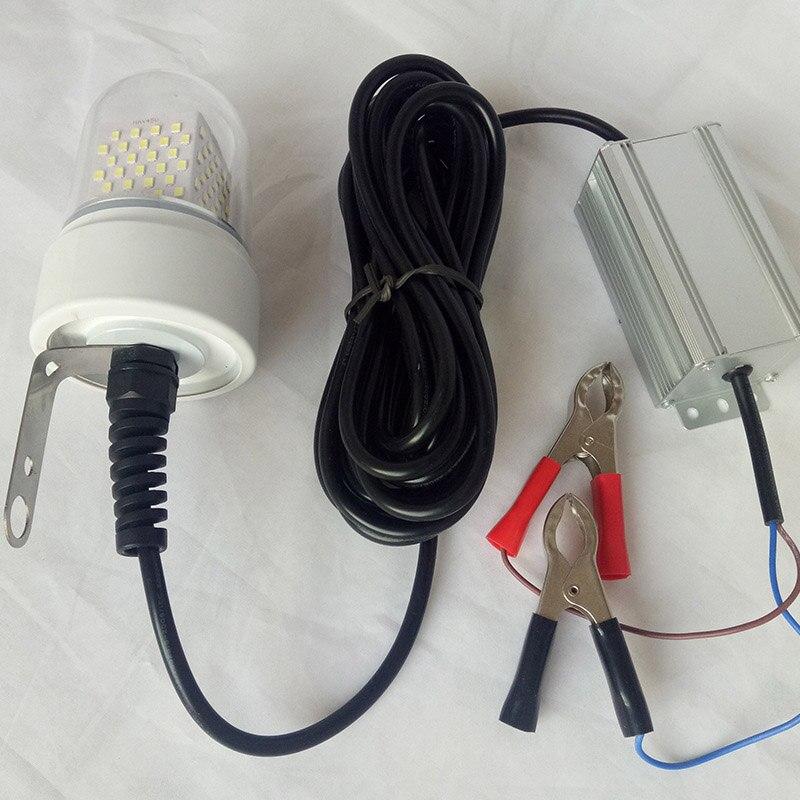 60W LED Underwater Fishing Light Marine Boat Lights IP68 Waterproof 360 Degree Lure Lights For Fishing DC 12 24V