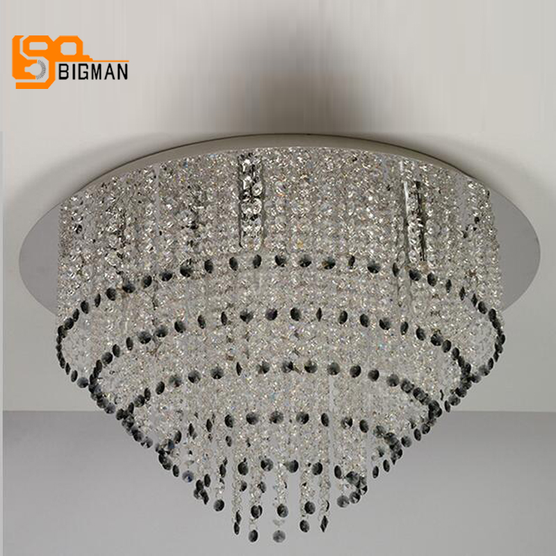 new flush mount crystal ceiling light modern living room lamps free shipping lustre flush mount led modern crystal ceiling lamp lights with 1 light for living room lighting free shipping