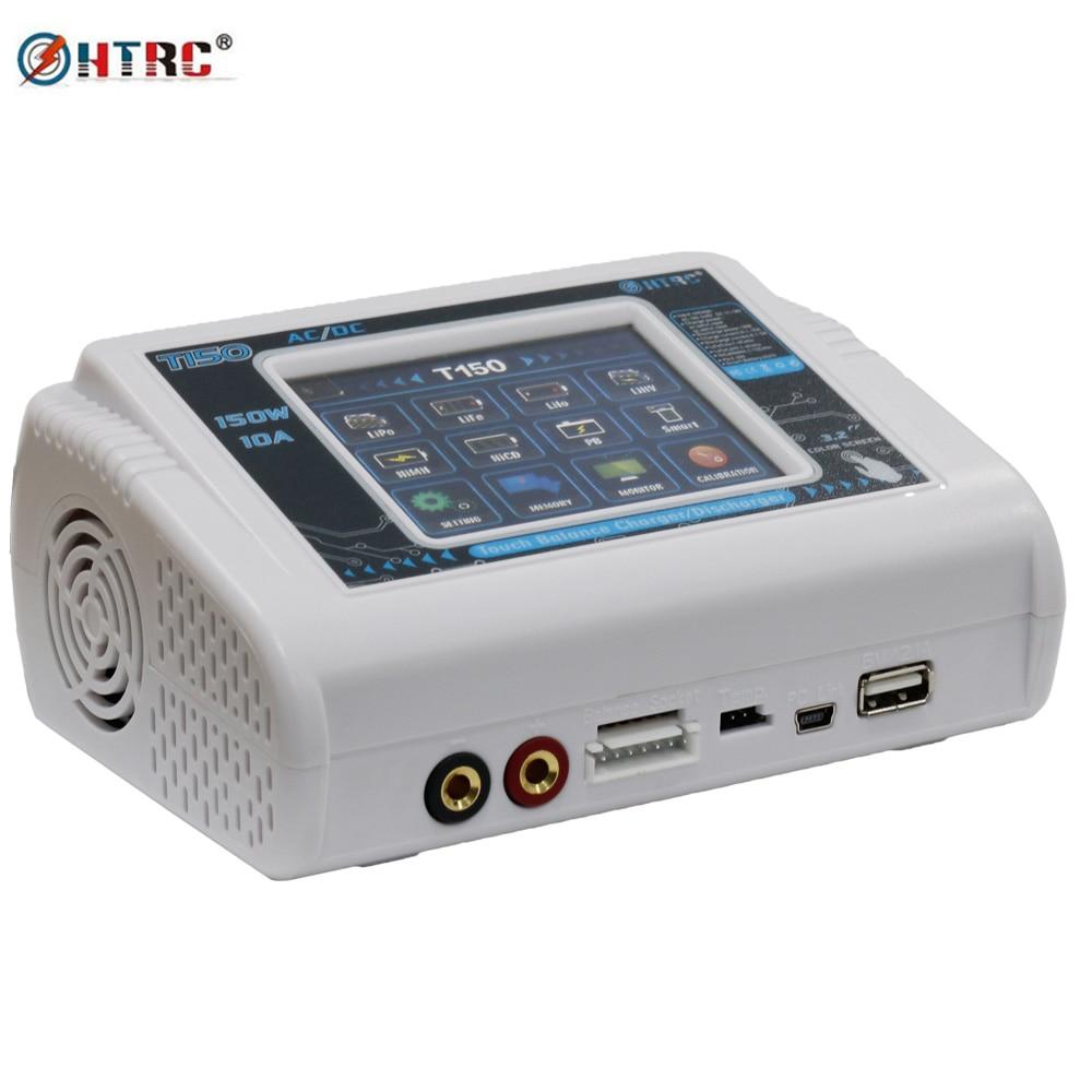 HTRC T150 AC/DC 150 w 10A Tactile Écran RC Solde chargeurs déchargeurs pour LiPo LiHV Vie Lilon NiCd niMh Pb batterie