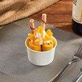 Моделирование мороженого ролл модель еды; посуда для закуски в виде конуса; поддельный Жареный Лед ролл образец для дисплея окна