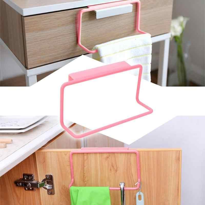 1 unidad multifunción baño toallero armario puerta trasera basura bolsa almacenamiento soporte colgante cocina gabinete Gadget Cocina