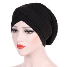 123c9616e45f Mode Femmes Musulman Turban Chapeau Chimio Perte De Cheveux Foulard Wrap  Hijib Cap Musulman Chapeaux Femmes Hijab Écharpe Femell.