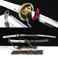 Hand forge T10 Clay Tempered Walking Dead Katana Michonne's Sword ZOMBIE Killer.