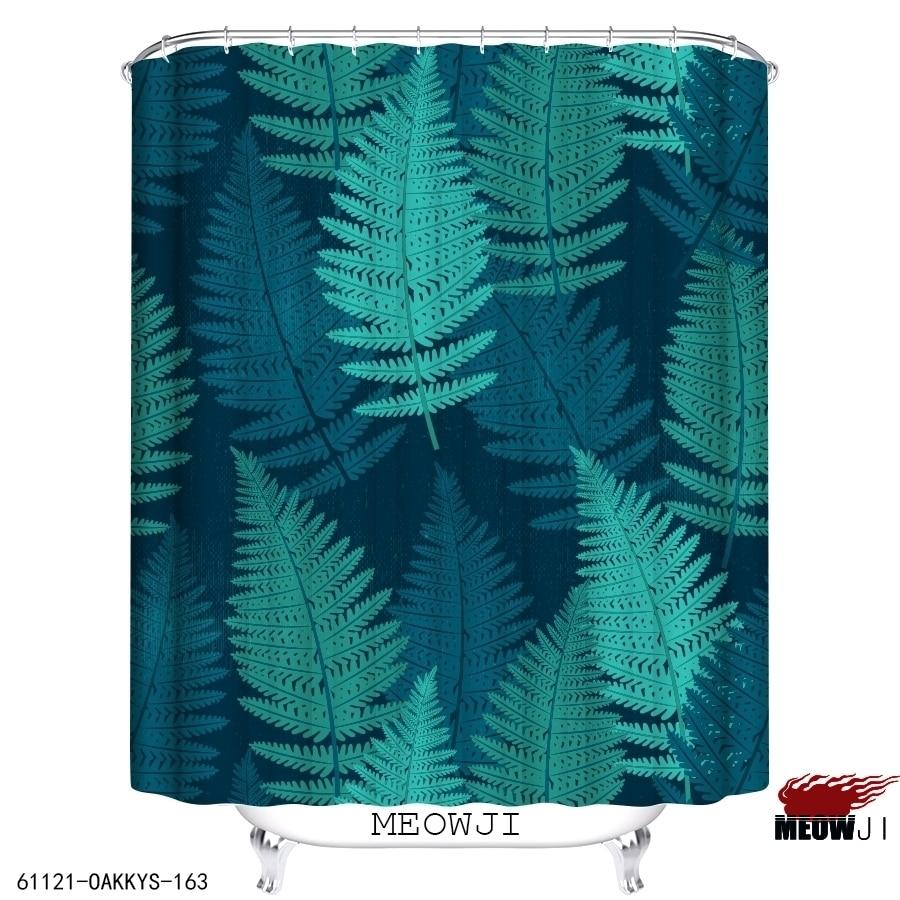 botanical garden spring green custom shower curtain bathroom decor various sizes free