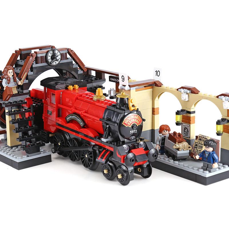 Harry Magic Potter Hogwarts Express Train 16055 Blocks Bricks Compatible with Legoing 75955 Building Model Gift Assembled ToysHarry Magic Potter Hogwarts Express Train 16055 Blocks Bricks Compatible with Legoing 75955 Building Model Gift Assembled Toys