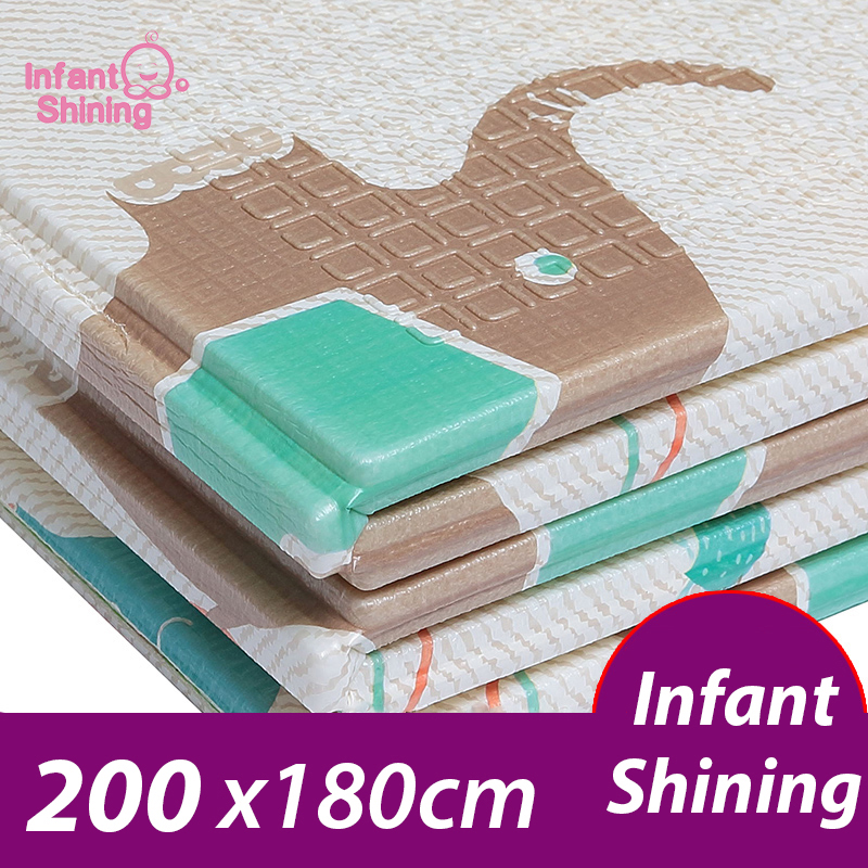 Infant Shining Baby Playmat Foldable Oversized XPE Childrens Clawing Carpet Child Game Pad Kids Play Mat Foam Mat for InfantsInfant Shining Baby Playmat Foldable Oversized XPE Childrens Clawing Carpet Child Game Pad Kids Play Mat Foam Mat for Infants