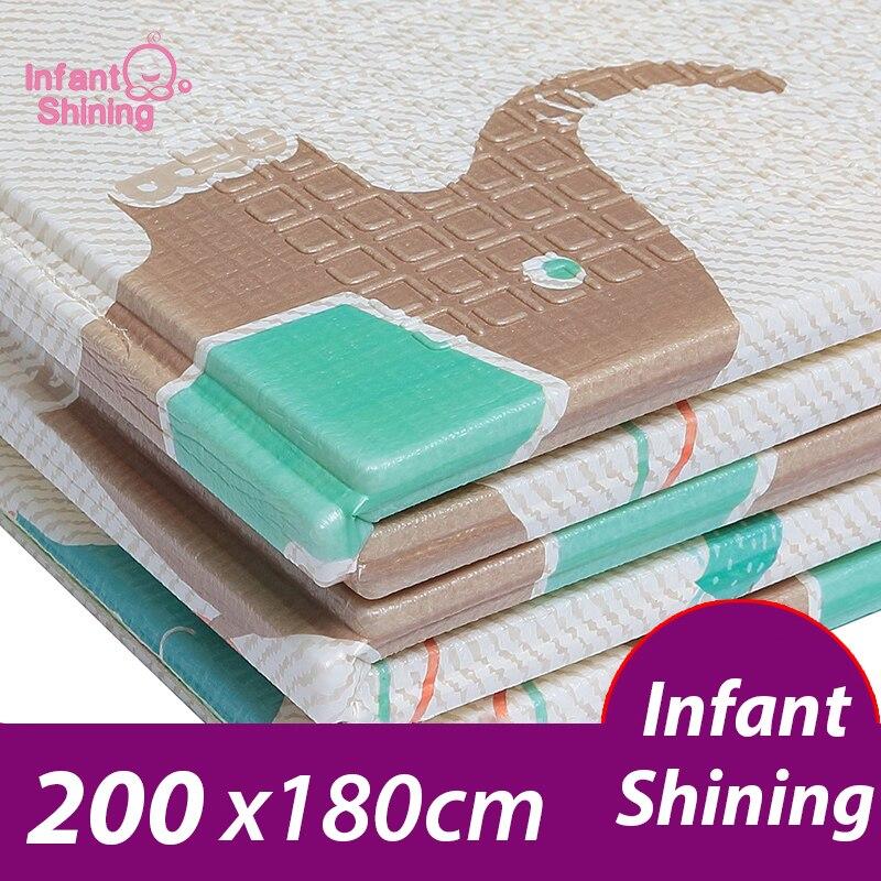 Tapis de jeu pour bébé brillant pliable surdimensionné XPE tapis de griffage pour enfants tapis de jeu pour enfants tapis de jeu en mousse pour nourrissons
