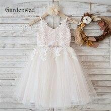 На тонких бретелях с v-образным вырезом, платье с цветочным узором для девочек прикладное ню, подкладка тюль принцесса, для общения детское кружевное платье для выпускного бала