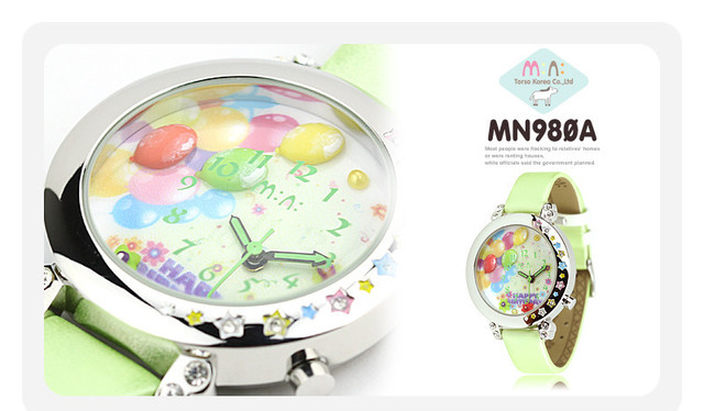 Handmade Romantic Clay Balloon Quartz Watches Cute Girls Korean Brand Mini Real Leather Wristwatch 3ATM Water Resistant NW835