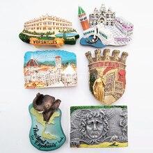 Italy Tourist Souvenir Fridge Magnets Verona Firenze France Versailles Greece Medusa Thailand Elephant Magnette Aimant Frigo