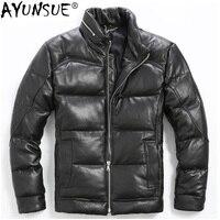 AYUNSUE/мужская куртка пуховик из натуральной кожи; зимняя мужская куртка пуховик из овечьей кожи; пуховик Doudoune Hiver Homme; XGY6189 KJ1145