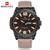 NAVIFORCE Famous Brand Men Army Quartz Watch Military Relogio Feminino Sport Clock Canvas Strap Dress Wristwatch Waterproof LX33