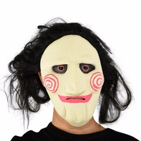 Scary Saw Masks Horror Movie Cosplay Props Adult Latex Jigsaw Mask Party Fancy Dress