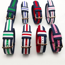 Top Quality DW Watch Strap  men and women colorful sport nylon watchband lady rose gold and sliver strap