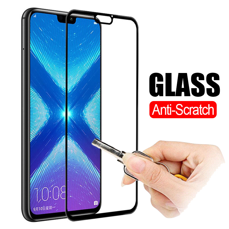 3D Safety Tempered Glass On For Honor 8X 8C 8A 8 Lite Protective Glass For Huawei Honor 8X Honer X8 C8 A8 Armor Screen Protector