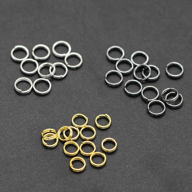 100pcs Double loop iron ring / key chain loop jewelry for jewelry making necklace/Bracelets /Keychain  DIY jewelry Accessories